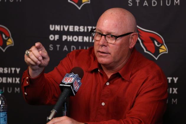 Bruce Arians Starts His Morning Reading Mock Drafts