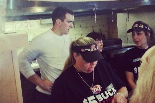 Joe Flacco Is Serving Ice Cream at Dairy Queen
