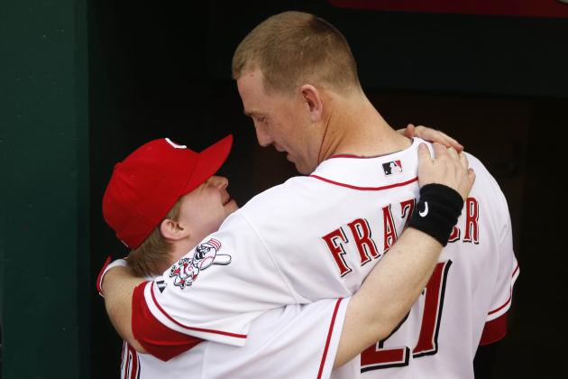 Reds' Resident Hero Todd Frazier Slams Home Run for Batboy Ted Kremer