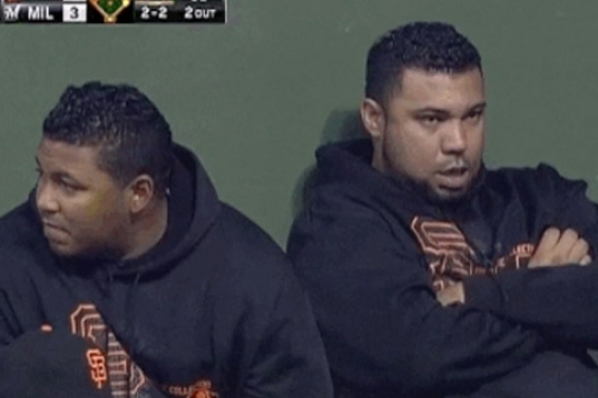 Someone Broke the No-Farting Rule in the San Francisco Giants Bullpen