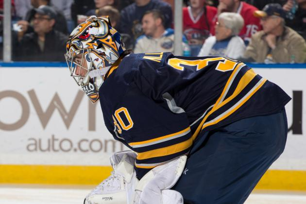 VIDEO: Ryan Miller Misplays Pucks, Rangers Score Twice in 20 Seconds