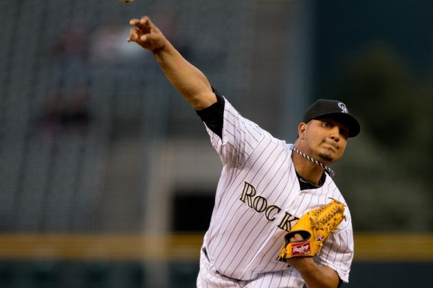 Jhoulys Chacin Leaves Game with Injury