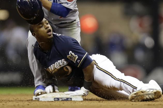 GIF: Brewers' Jean Segura Steals First Base