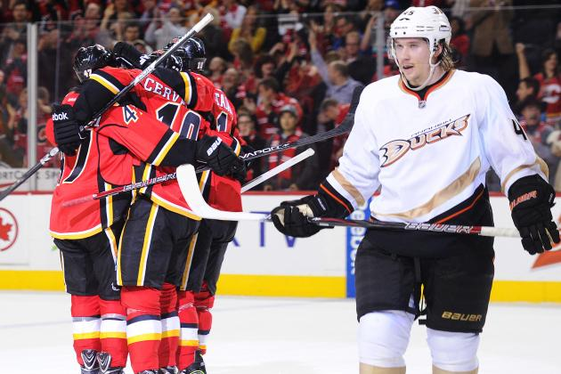 Miikka Kiprusoff, Flames Shut Down Ducks, 3-1