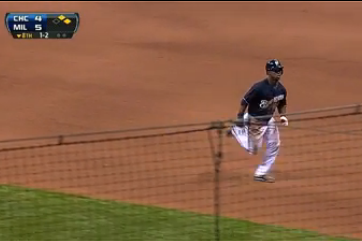 Brewers Player Steals 1st Base?