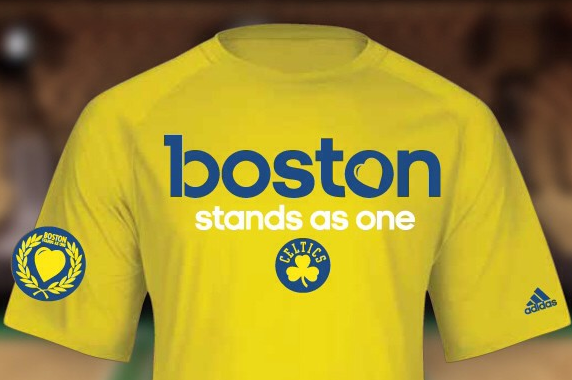 Celtics' Special Warmup Shirts