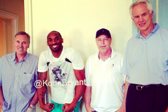 Kobe Bryant Gets a Visit from Kupchak, D'Antoni and Jim Buss