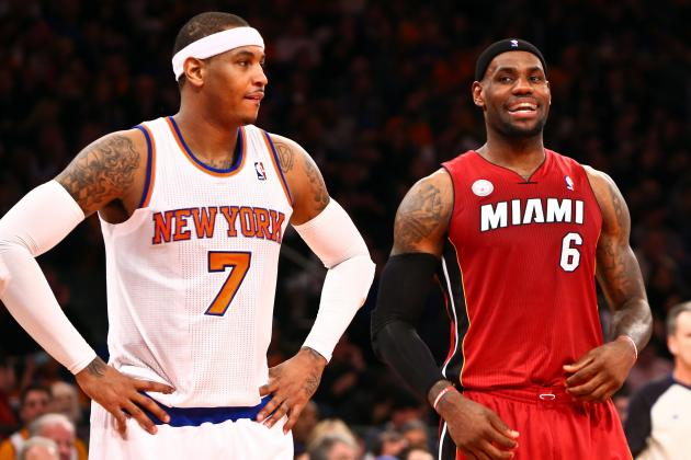 Tracing Career Rivalry Arc of LeBron James and Carmelo Anthony