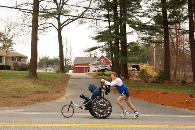 The 2013 Boston Marathon Story of Quadriplegic Rick Hoyt and His Father