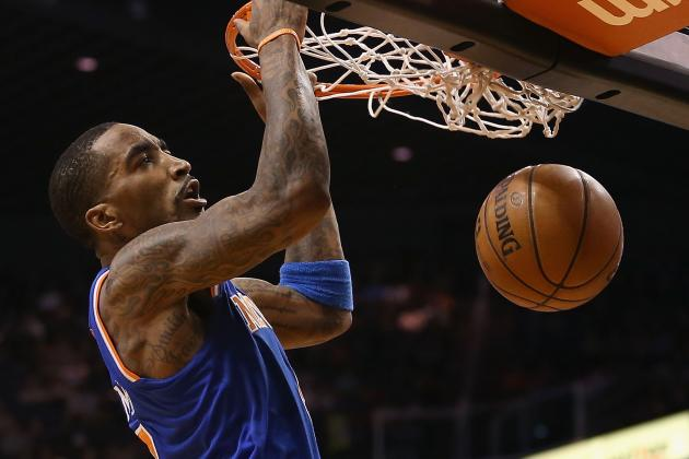 Video: Knicks' J.R. Smith Dunks over Celtics' Jeff Green