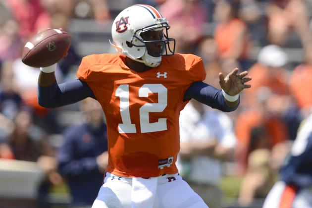 Auburn A-Day Game 2013: Jonathan Wallace with the Edge at QB