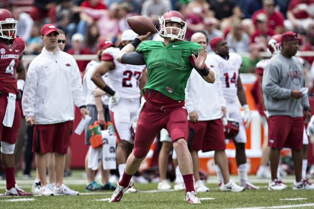 Arkansas Football 2013 Spring Game: Updating the QB Battle Post Red-White Game