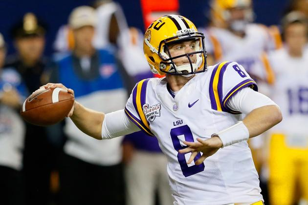 LSU Football 2013 Spring Game: Zach Mettenberger Shows Great Maturity at QB