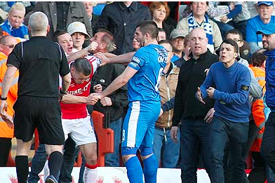 FA to Investigate After Kidderminster Player Hit During Pitch Invasion