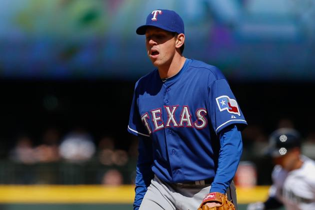 Nick Tepesch Exits Game After Taking Liner to Wrist