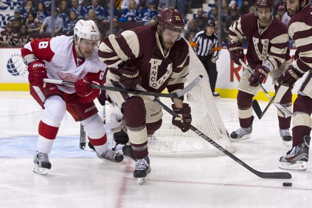 Detroit Red Wings vs. Vancouver Canucks: GameCast