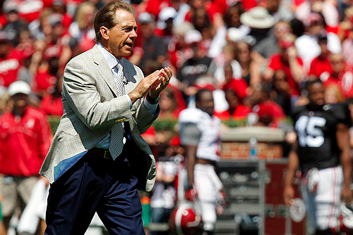 Saban Pushing Alabama Toward History This Spring