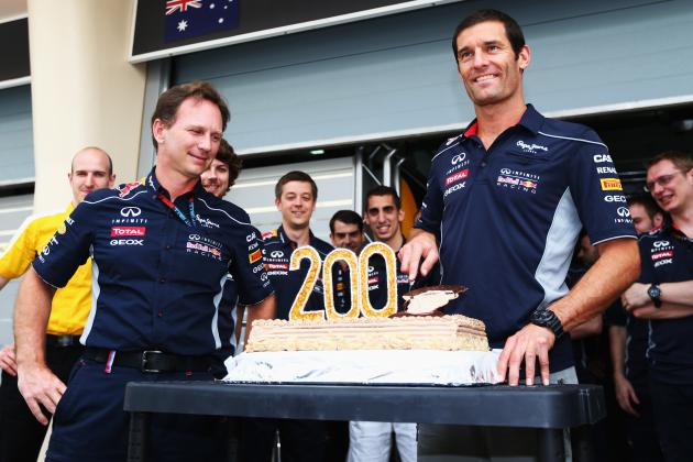 Mark Webber Celebrates 200th Grand Prix in Bahrain