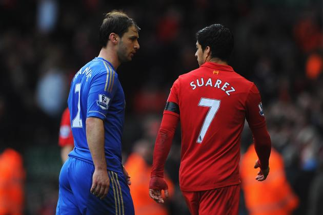 Luis Suarez GIFs: Forward Accused of Biting Chelsea Defender Branislav Ivanovic