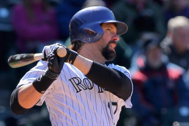 Rockies' Helton out with Strained Forearm; Chacin Will Miss Start