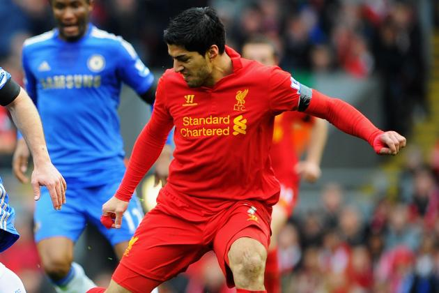 Luis Suarez, Liverpool Issue Statements After Star's Attempted Bite vs. Chelsea