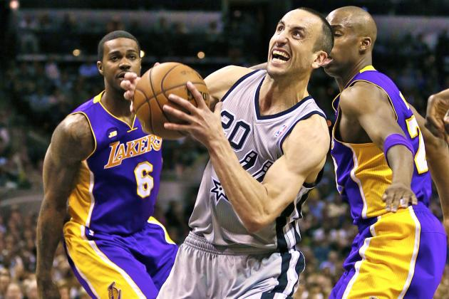Manu Ginobili and Co. Put Lakers Bench to Shame