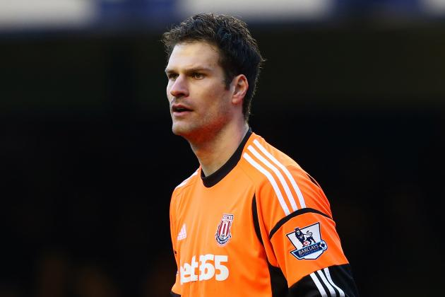 Stoke Goalkeeper Asmir Begovic Concentrating on Relegation Fight