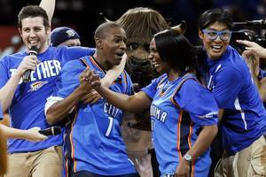Third Thunder Fan of Season Makes $20,000 Half-Court Shot