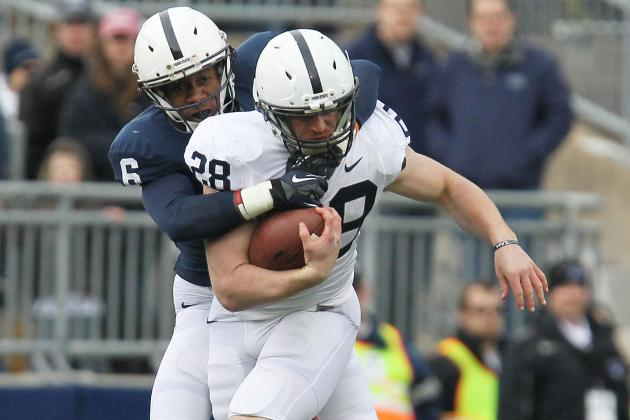 Zwinak Leaves Blue-White Game with Hand Injury