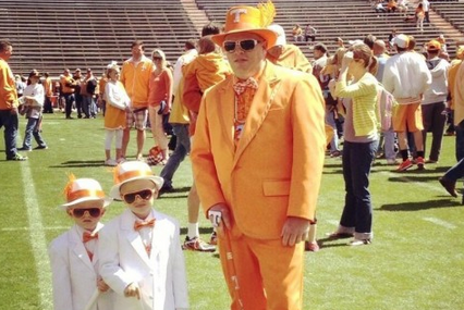 Tennessee Family Rocks Crazy Spring Game Costumes