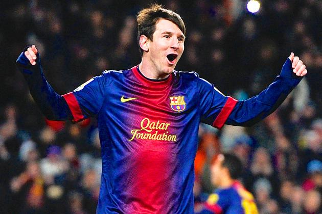 Tracking Lionel Messi's 2012-13 UEFA Champions League Campaign with Barcelona