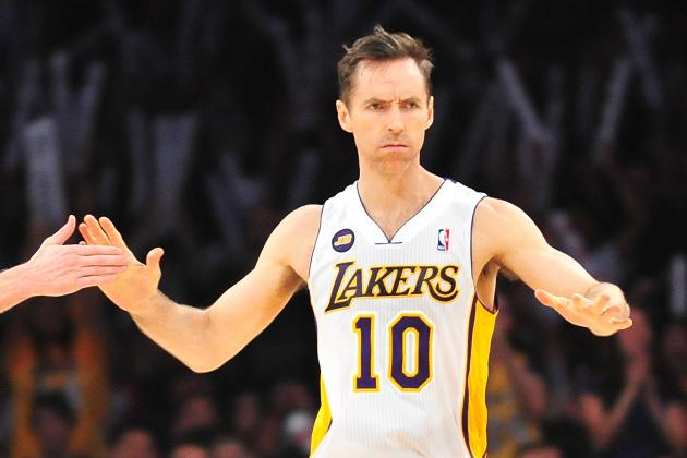 Steve Nash Practices with the Lakers, Expected to Start Game 2