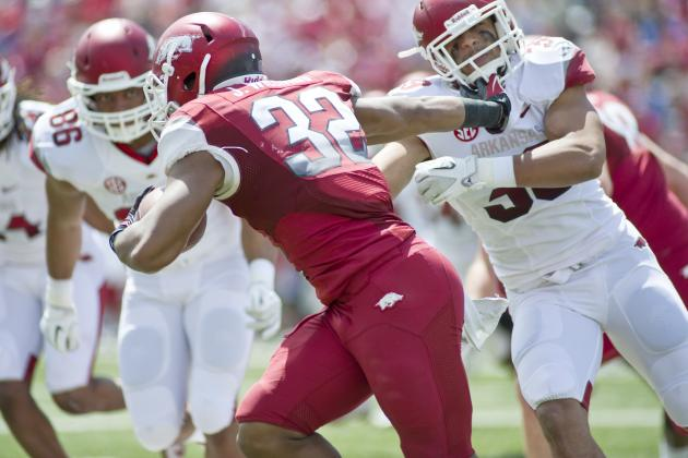 Arkansas Gets Big Day from Big Backs