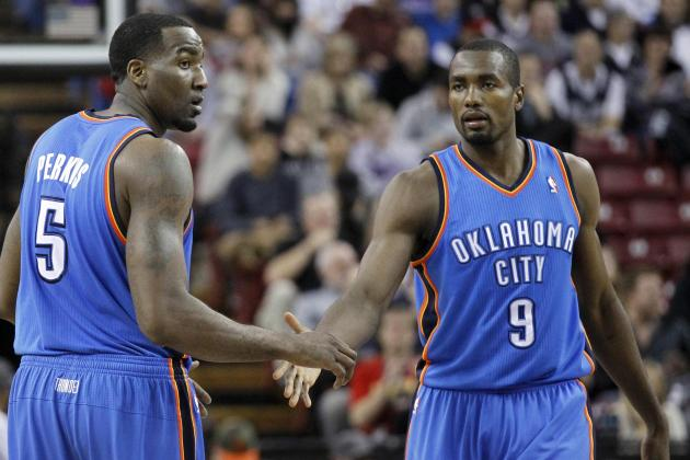 Video: Kendrick Perkins Throws Lob to Serge Ibaka