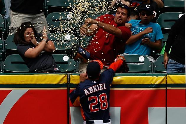 WATCH: Astros Outfielder Gets Popcorn Shower