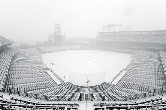 Rockies vs. Braves Postponed with Colorado Snow, Doubleheader Tuesday