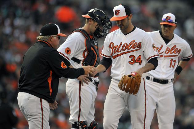 Jake Arrieta: O's Right-Hander Endures Pitcher's Nightmare