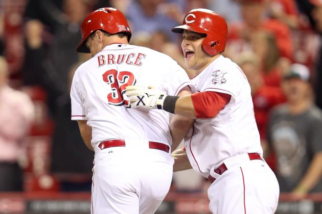 Bruce, Reds Outlast Cubs for 13-Inning Win