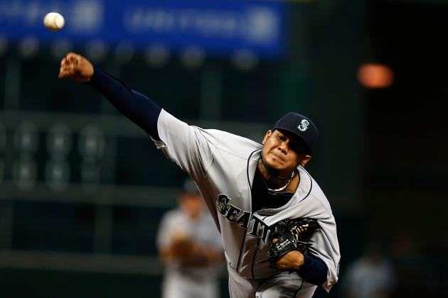Seattle Mariners' King Felix Notches 100th Career Win