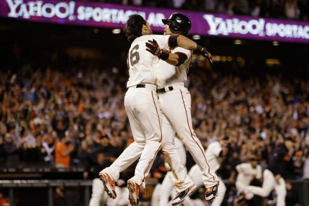 Posey Ties It, Belt Wins It for Giants