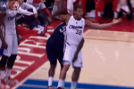 Zach Randolph Gets Up Close and Personal with Blake Griffin