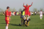 Only in Romania: Injured Soccer Players Carted Off in Motorized Wheelbarrows