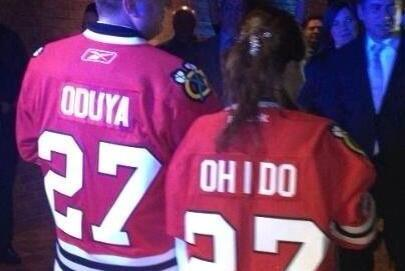 The Ultimate Chicago Blackhawks Wedding Photo