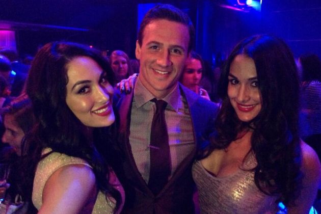 Bella Twins Skip on WWE Raw to Party with Ryan Lochte