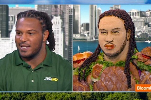 Subway Gives Jarvis Jones The Chicken Salad Treatment [PHOTOS]