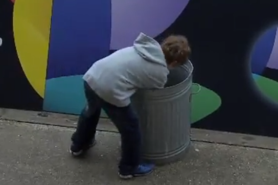 Rugby Player Accidentally Kicks Ball into Trash Can 50 Yards Away