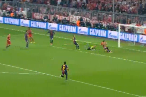 Bayern Munich v Barcelona UEFA Champions League Highlights 04/23/13