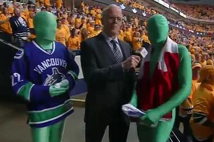We Are Force and Sully, the Greenmen from Vancouver Canucks Games. AMA!