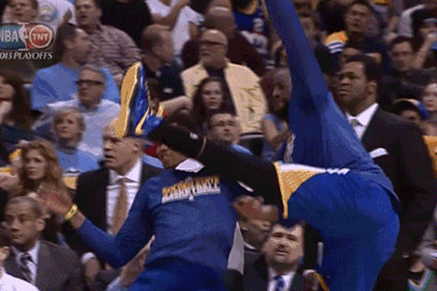 Warriors' Bench Starts Kung Fu Fighting After Harrison Barnes' Huge Reverse Dunk