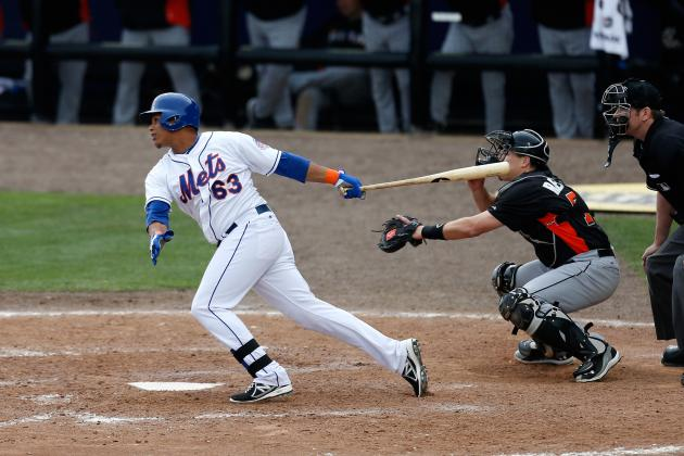 Juan Lagares Records First Major-League Hit in Debut